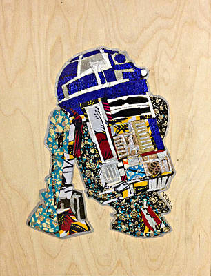 R2-d2 Star Wars Afrofuturist Collection Poster by Apanaki Temitayo M
