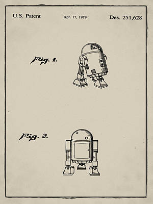 R2d2 Patent 1979 In Sepia Poster