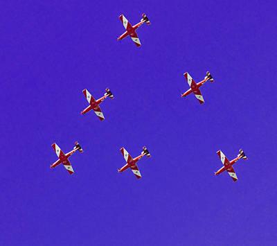 Raaf Roulettes Over Sydney Poster by Miroslava Jurcik