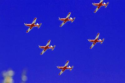 Raaf Roullettes Flying Across North Head Sydney Poster by Miroslava Jurcik