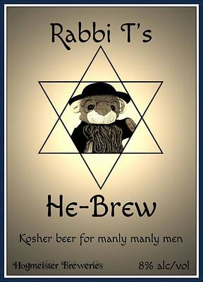 Rabbi T's He-brew Poster by Piggy