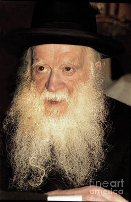 Poster featuring the photograph Rabbi Yehudah Zev Segal by Doc Braham