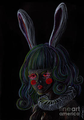 Rabbit Girl -black- Poster by Akiko Okabe