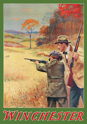 Rabbit Hunting Poster by George Brehm
