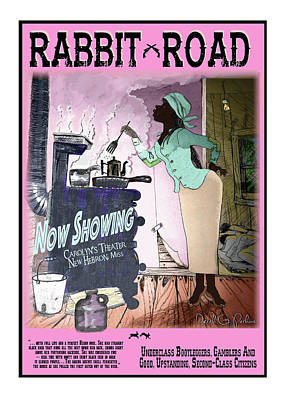 Rabbit Road - Teet's Cookin Poster by The Perkins Gallery