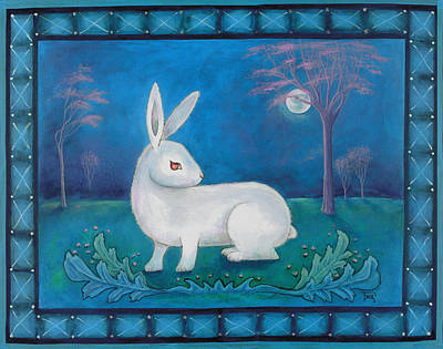 Poster featuring the painting Rabbit Secrets by Terry Webb Harshman