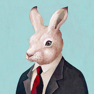 Rabbit Square Poster by Animal Crew