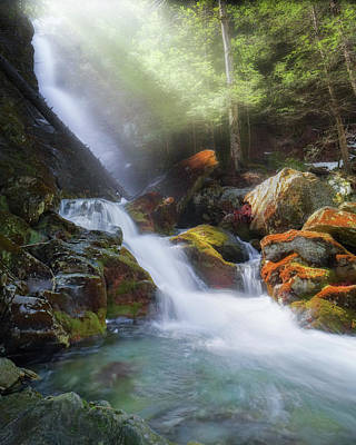 Poster featuring the photograph Race Brook Falls 2017 by Bill Wakeley