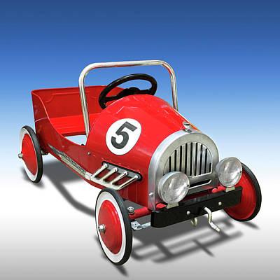 Race Car Peddle Car Poster by Mike McGlothlen