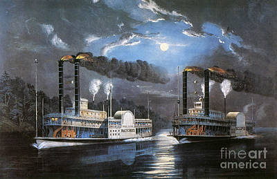 Race On Mississippi, 1860 Poster