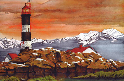 Race Rocks Lighthouse Poster by James Lyman