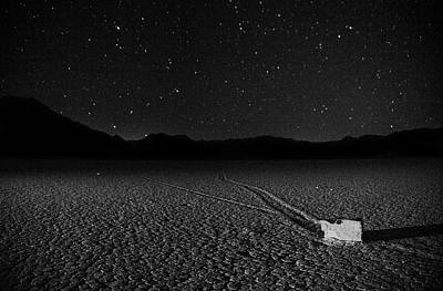 Poster featuring the photograph Racing Across The Playa At Night by Peter Thoeny