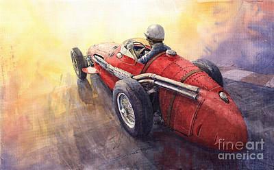 Racing Light Maserati 250 F Poster by Yuriy  Shevchuk