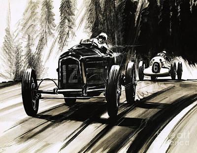 Racing On The Nurburgring Poster