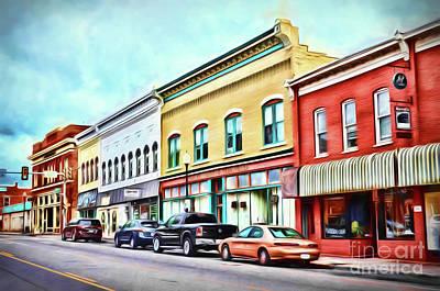 Radford Virginia - Along Main Street Poster