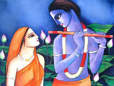 Radha Krishna Poster by Sekhar Roy