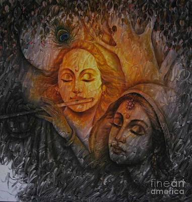 Radha Krishna Series Poster by Prince Chand