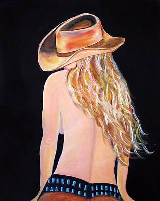 Poster featuring the painting Radiant Cowgirl  by Jennifer Godshalk