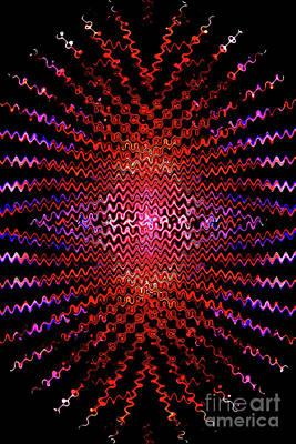 Radiating Inner Joy Abstract Poster