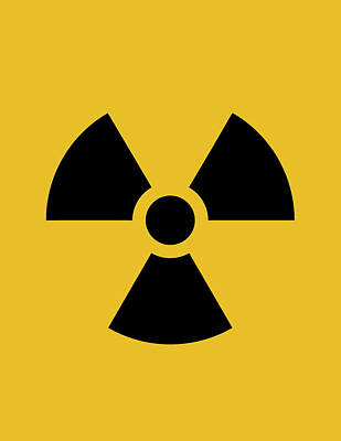 Radiation Hazard Symbol Poster by War Is Hell Store
