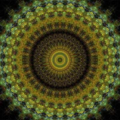 Radiation Of Medusa's Galaxy Mandala 7 Poster by Julia Bagryanskaya
