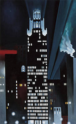 Radiator Building Night  New York Poster by Georgia O Keeffe