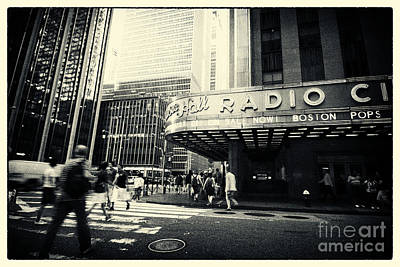 Radio City Music Hall Manhattan New York City Poster by Sabine Jacobs