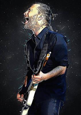 Radiohead - Thom Yorke Poster by Semih Yurdabak