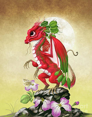 Radish Dragon Poster by Stanley Morrison