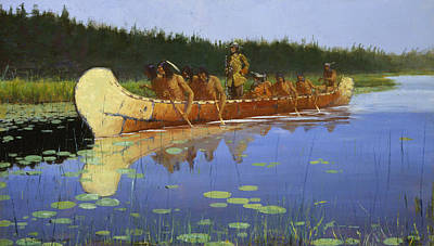 Radisson And Groseilliers Poster by Frederic Remington