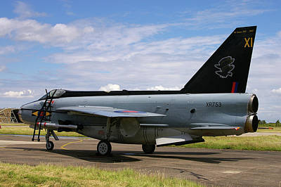 Poster featuring the photograph Raf English Electric Lightning F6 by Tim Beach