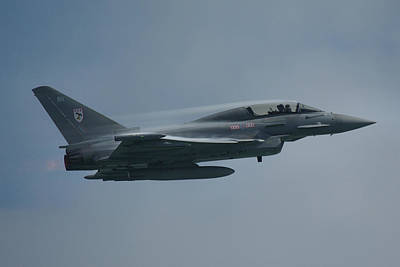 Poster featuring the photograph Raf Eurofighter Typhoon T1  by Tim Beach