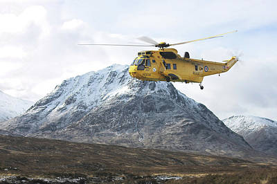 Raf Sea King - Sar Poster by Pat Speirs