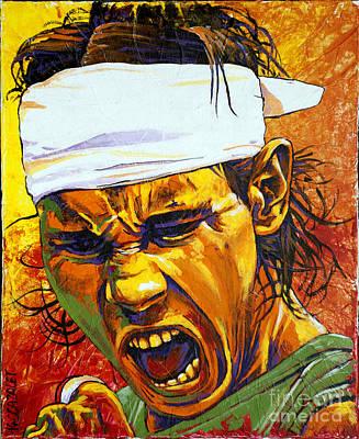 Rafael Nadal Poster by Christian CAZALET