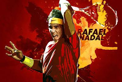 Rafael Nadal Poster by Semih Yurdabak