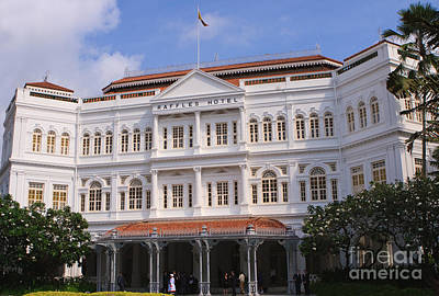 Raffles Hotel - Singapore Poster by Pete Reynolds