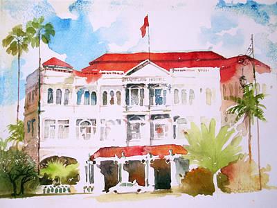 Raffles Hotel Poster by V  Reyes