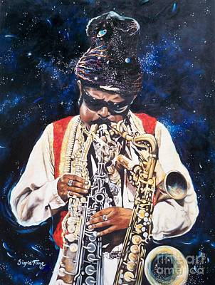 Rahsaan Roland Kirk- Jazz Poster by Sigrid Tune