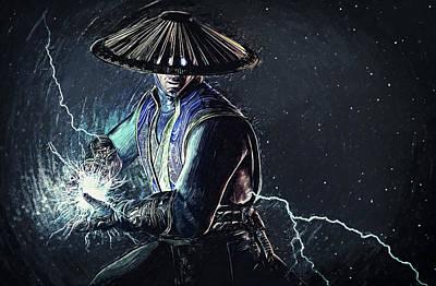 Raiden - Mortal Kombat Poster by Taylan Apukovska