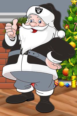 Raiders Santa Claus Poster