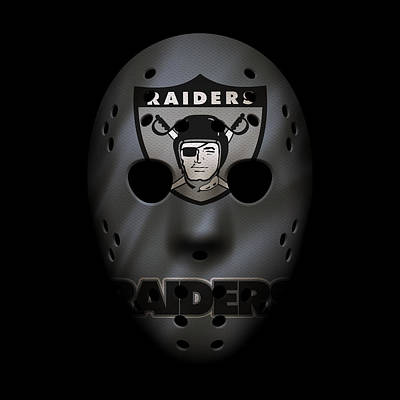 Raiders War Mask Poster
