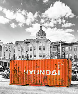 Container In Altoona Poster by Eclectic Art Photos