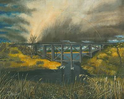 Rail Road Bridge North Dakota Poster