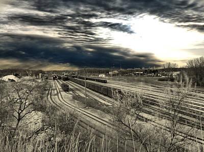 Rail Yard 4 Poster by Scott Hovind