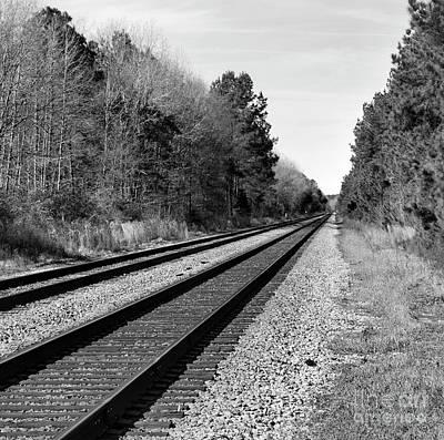 Railroad 8x8 Poster by Skip Willits