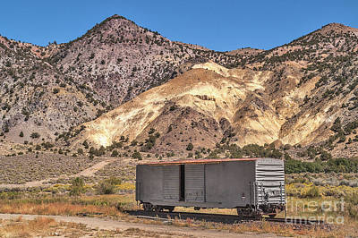 Poster featuring the photograph Railroad Car In A Beautiful Setting by Sue Smith