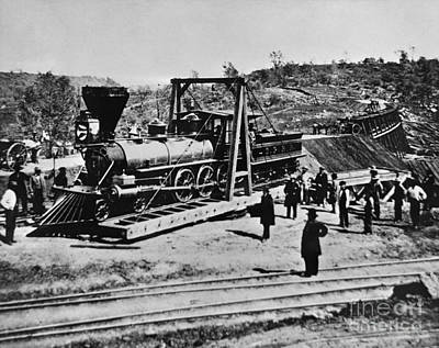 Railroad Construction, Topeka 1870 Poster by Omikron