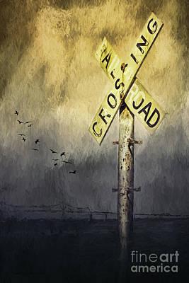 Railroad Crossing Poster by Jean OKeeffe Macro Abundance Art