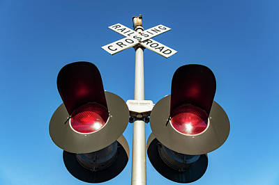 Railroad Crossing Lights Poster