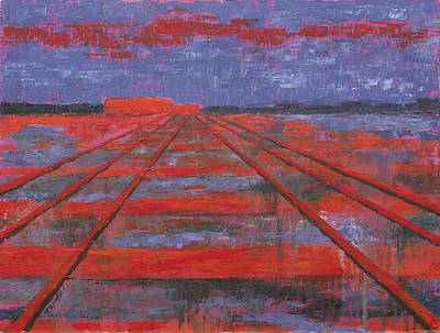 Railroad Into The Dusk  Poster